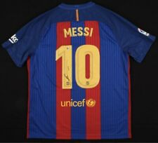 Lionel Messi Signed Barcelona Nike Jersey Inscribed Leo Beckett COA
