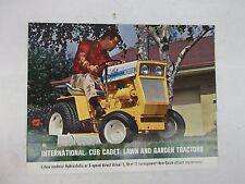 International Harvester Cub Cadet 72 104 124 105 and 125 Sales Brochure Poster