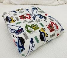 New ListingPottery Barn Kids Busy Builder Construction Trucks Flannel Twin Duvet Cover