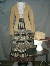 Western Dress Womens Prairie Costume Old West Civil War Reenactment Cowgirl M