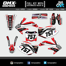 HONDA CRF 450 R MX Graphics FULL KIT Motocross Decals Stickers Set 2008 - 2019