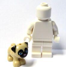 LEGO Dog Puppy Tan Nero Carlino minifigura non incluso Pet AMICI ANIMALI