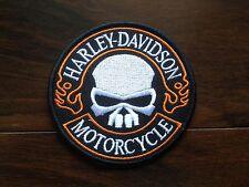 Patch / Ecusson Harley Davidson HD biker skull 9cm