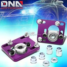 """?2.5""""ADJUSTABLE CAMBER CASTER PLATE COILOVER ALIGNMENT FIT 94-04 MUSTANG PURPLE"""