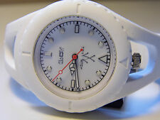 TOY WATCH J-LOOPED WHITE SILICON WATCH MODEL JL01WH-EXCELLENT CONDITION