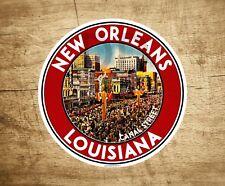 "3.5"" New Orleans Louisiana Decal Sticker Mardi Gras Canal Street Vintage"
