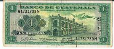 Guatemala Billete 1 P43b 13.01.1961 vf marcas de clip de papel - 1/2 tipos de este Pick