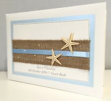 Starfish | Hessian | Beach | Wedding Guest Book