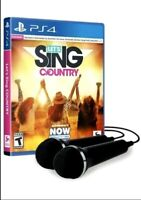 Let's Sing Country - 2 Mic Bundle for PlayStation 4 [New Video Game] PS 4