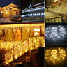 96-960 LED String Hanging Icicle Light Fairy Snowing Curtain Lights Outdoor Lamp