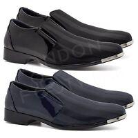 New Mens Italian Style Patent Leather Formal Black Wedding Dress Shoes UK 6-11