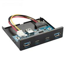 More details for usb 3.0 2 ports 2 * type c 3.5 inch front panel hub with 20 pin connector adapte
