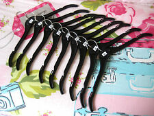 BLACK Plastic Dress Clothes Hangers JOB LOT X 20 Adult STANDARD SIZE Quality