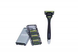 Dorco PACE 6 Pro Razor Blades for Men, 1 Handle + 4 Refills Blades