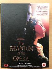 Fantasma de la Ópera ~ 2004 Musical Película 4-disc DVD + Banda Sonora CD Box