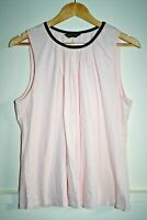 Dorothy Perkins Women Elegant Pink 100% Cotton Sleeveless Top Blouse Size 18