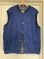 """Barbour Vintage Blue Quilted Gilet Body Warmer Farmer Horsey Equestrian M 44"""""""
