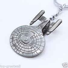 New Star Trek Spaceship Enterprise Stereoscopic Keyring Keychain Silver Color