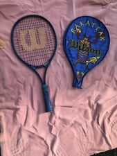 "Wilson Kids Tennis Racket Rak Attack Youth W/ Cover 4� Grip 25"" Long Boys Girls"