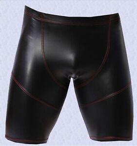 Ju/He. beschichtete Schwimm Shorts / Boxer schwarz wie Glanznylon Gr. XL