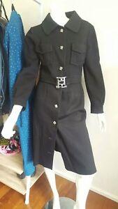 Women's Black Vintage 2 piece Suit skirt and blazer