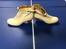 GIXUS Italian Leather Women's Beige Ankle Boots European size 38 (US 7.5)