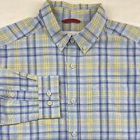 Columbia Sportswear Men's Blue Plaid Long Sleeve Button Up Shirt Size M Medium
