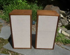 Acoustic Research AR-4x Speakers - recapped, new grill cloths, beautiful veneer