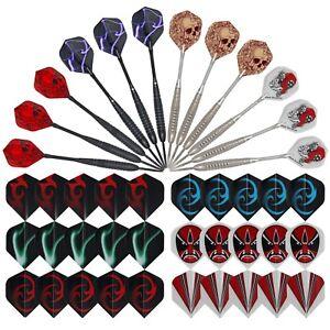 12pcs Steel Tip Darts DZZZS14 Metal Professional Darts Aluminum Shaft