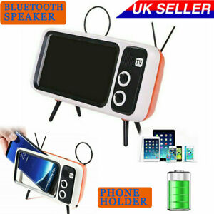 Mini Wireless Bluetooth Speaker Multi Bass Portable Speakers Phone Holder UK NEW