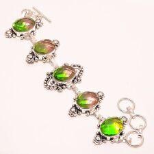 "Jewelry Bracelet 7-8"" B-20 Attractive Bi-Color Tourmaline Ethnic Style"
