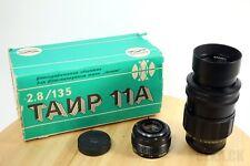 Nouveau Russe Soviétique Objectif Tair 11a 135/2.8 + Boîte + 2x Convecteur
