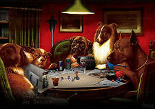 Dogs Playing D&D (Pathfinder version) full color poster