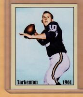 FRAN TARKENTON '61 MINNESOTA VIKINGS ROOKIE RARE LIMITED EDITION NYC CAB CARD