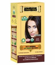 2 PACK -Indus valley Botanical Hair Color Soft Black |No Ammonia Or PPD FREE SHP