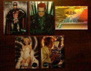1995 Batman Forever Fleer Metal 4-Card Movie Preview Insert Set + Video Game A-1