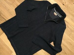 John Lewis Men's Grey Thick Cotton Long Sleeve Collared Jumper Size XL