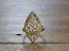 Vintage 14K Yellow Gold Elongated Ring