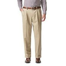 """NWT DOCKERS D3 CLASSIC FIT 'STAIN DEFENDER"""" KHAKIS PLEATED PANTS-TAN-38X29"""
