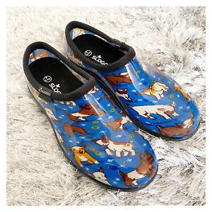 Sloggers Women's Goats Waterproof Garden Shoe Sky Blue US 8