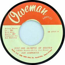 "7"" Don Ashworth Just One glimpse of heaven/Lord help him oweman USA 1973"