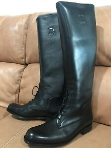 ARIAT Women's two24 Palencia Black Ink Lace-Up Leather Riding Boots Size 9.5B