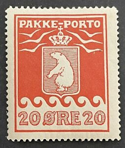 Greenland 1905. Parcel Post. 20 Ore Red (MH)