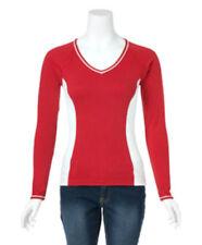 NEW Brightline CHRL-Collegiate Spirit Tee/Shirt-Wine Red & White-Size (S)-(2-4)