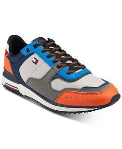 Tommy Hilfiger Men Fashion Sneakers Volts Size US 11M Orange Multicolored