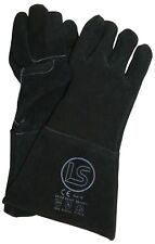 Langley Branded Black Woodburner - Welders Gauntlet - BBQ Glove