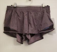 Lululemon Hotty Hot Short II NWT SZ 10 DDLB/BLK Purple & Black Swift Fabric