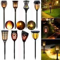 1/2/4Pack Solar Power Flame Torch Light Dancing Light Flickering Landscape Lamp