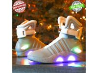 Mens Back To The Future WARRIOR Athletic LED LIGHT Shoes Basketball Sneakers New