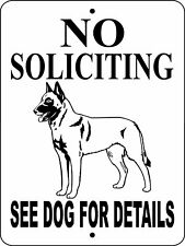 4012 Belgian Malinois Aluminum Dog Sign 9 x 12
